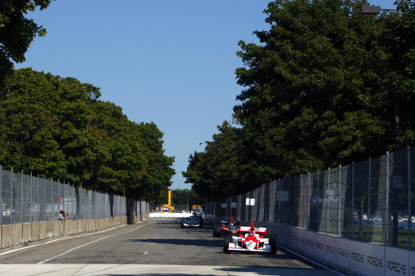 Helio Castroneves (BRA), Team Penske Dallara Honda, retired.IRL IndyCar Series, Rd16, Detroit Indy Grand Prix, Raceway at Belle Isle, Detroit, MI, USA. 31 August - 2 September 2007.