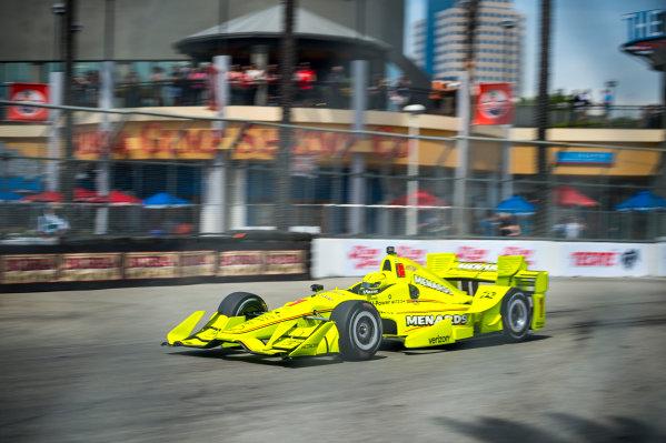 2017 Verizon IndyCar Series Toyota Grand Prix of Long Beach Streets of Long Beach, CA USA Friday 7 April 2017 Simon Pagenaud World Copyright: Gavin Baker/LAT Images
