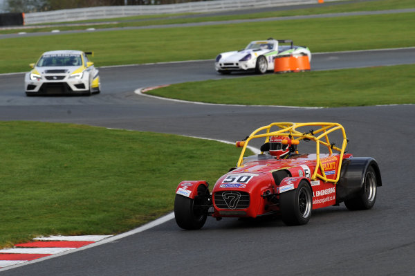 2017 DDMC Northern Saloon & Sports Car Championship, Oulton Park, Cheshire. 15th April 2017. Bill Addison Caterham Superlight. World Copyright: JEP/LAT Images.