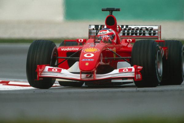2002 Malaysian Grand Prix.Sepang, Kuala Lumpar, Malaysia. 15-17 March 2002.Rubens Barrichello (Ferrari F2001).Ref-02 MAL 78.World Copyright - PICME/LAT Photographic