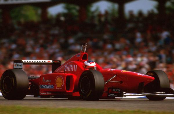 Hockenheim, German.26-28 July 1996.Michael Schumacher (Ferrari F310) 4th position.Ref-96 GER 21.World Copyright - LAT Photographic