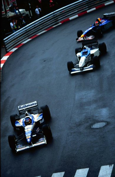 Monaco Grand Prix.Monte Carlo, Monaco.16-19 May 1996Jacques Villeneuve (Williams FW18 Renault) at Loews Hairpin early in the race.World Copyright - LAT Photographic