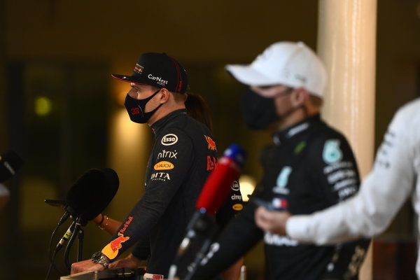 Pole man Max Verstappen, Red Bull Racing, is interviewed after Qualifying