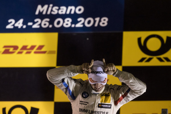 Podium: Race winner Joel Eriksson, BMW Team RBM.