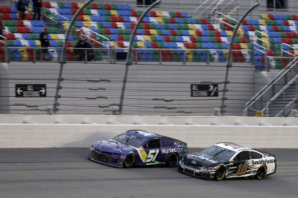 #51: Cody Ware, Petty Ware Racing, Chevrolet Camaro #10: Aric Almirola, Stewart-Haas Racing, Ford Mustang Smithfield