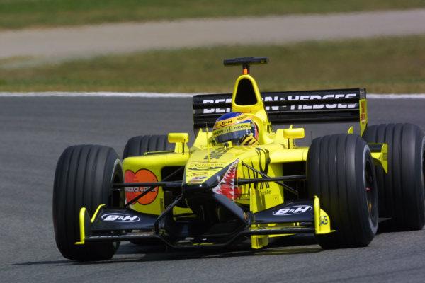 2001 Spanish Grand PrixCatalunya, Barcelona, Spain. 27-29 April 2001.Jarno Trulli (Jordan EJ11 Honda) 4th position.World Copyright - LAT Photographicref: 8 9 MB Digital File