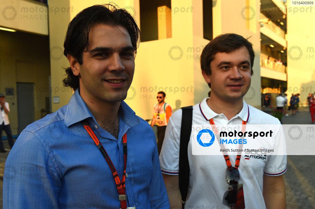 Arif Rahimov, Baku Street Circuit Promoter and Sergey Vorobyev (RUS) Sochi Autodrom Deputy General Director at Formula One World Championship, Rd19, Abu Dhabi Grand Prix, Qualifying, Yas Marina Circuit, Abu Dhabi, UAE, Saturday 28 November 2015.