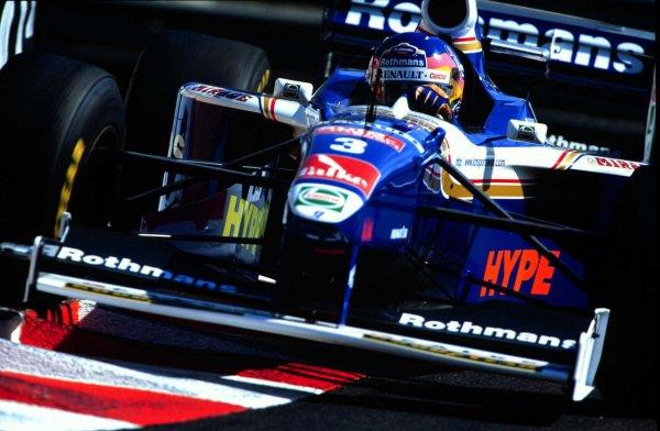 1997 Monaco Grand Prix.Monte Carlo, Monaco.8-11 May 1997.Jacques Villeneuve (Williams FW17 Renault).World Copyright - LAT Photographic