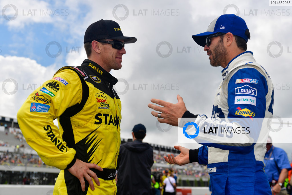 29-31 July, 2016, Long Pond, Pennsylvania USA Carl Edwards, Stanley Toyota Camry, Jimmie Johnson ?2016, Logan Whitton  LAT Photo USA