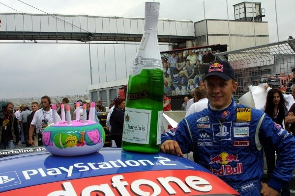 Red Bull driver Mattias Elkstrom (SWE) celebrated his birthday.