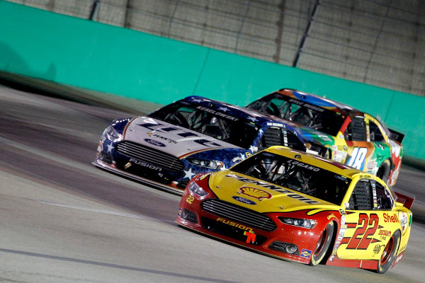 26-28 June, 2014, Sparta, Kentucky USA Joey Logano Brad Keselowski ©2014, Matthew T. Thacker LAT Photo USA