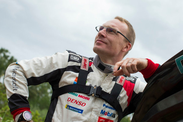 Jari Matti Latvala in a fully relaxed mood before the start of Rally d'Italia Sardinia