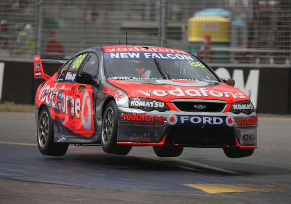 The Triple Eight Racing V8 Supercar of Jamie Whincup during the Clipsal 500, Round 01 of the Australian V8 Supercar Championship Series at the Adelaide Street Circuit, Adelaide, South Australia, February 22, 2008.