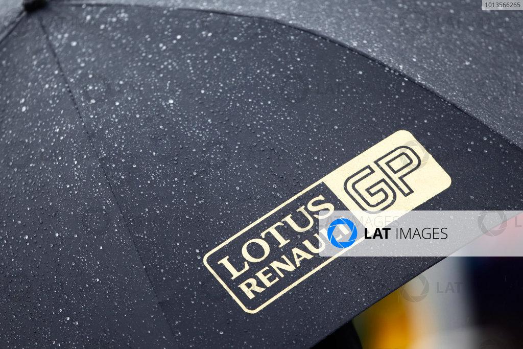 Albert Park, Melbourne, Australia24th March 2011.Lotus Renault GP Umbrella. Detail.World Copyright: Glenn Dunbar/LAT Photographicref: Digital Image _G7C1362