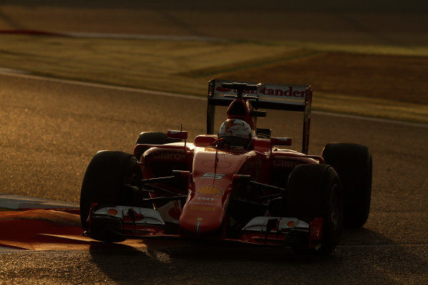 2015 F1 Pre Season Test 3 - Day 4 Circuit de Catalunya, Barcelona, Spain. Thursday  Sunday 1 March 2015. Sebastian Vettel, Ferrari SF15-T.  World Copyright: Sam Bloxham/LAT Photographic. ref: Digital Image _14P5478