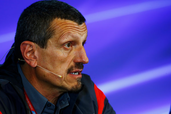 Spa Francorchamps, Belgium.  Friday 25 August 2017. Guenther Steiner, Team Principal, Haas F1, in the Team Principals Press Conference. World Copyright: Andy Hone/LAT Images  ref: Digital Image _ONZ9381