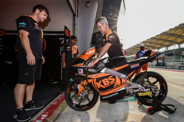 2017 Moto3 Championship - Round 17 Sepang, Malaysia. Friday 27 October 2017 SIC Racing Team garage World Copyright: Gold and Goose / LAT Images ref: Digital Image 25029