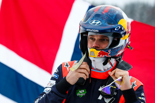2018 FIA World Rally Championship, Round 02, Rally Sweden 2018, February 15-18, 2018. Andreas Mikkelsen, Hyundai, portrait, Worldwide Copyright: McKlein/LAT