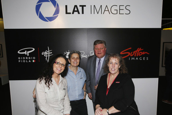 Autosport International Exhibition. National Exhibition Centre, Birmingham, UK. Saturday 13th January, 2018. Zoe Schafer, Fiona Fallon, Tim Wright and Laura Coppin on the LAT stand.World Copyright: Joe Portlock/LAT Images Ref: _L5R0216