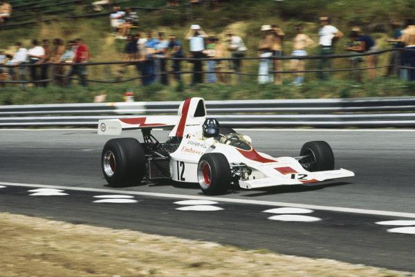 1973 Austrian Grand Prix.  Osterreichring, Austria. 17-19th August 1973.  Graham Hill, Shadow DN1 Ford.  Ref: 73AUT49. World Copyright: LAT Photographic