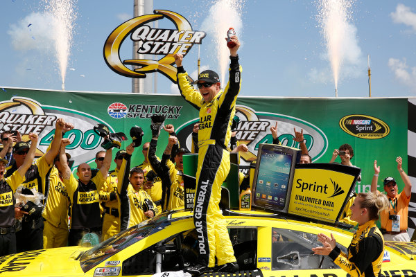27-29 June, 2013, Sparta, Kentucky, USA Winner Matt Kenseth celebrates in Victory lane © 2013, Michael L. Levitt LAT Photo USA