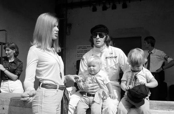 The Stewart family, with Helen, Jackie and Paul and Mark in the pits.