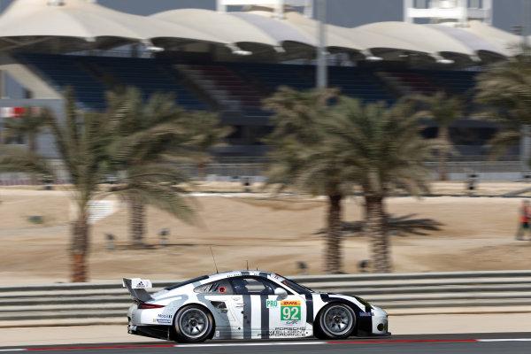 2015 FIA World Endurance Championship,  Rookie Driver Test, Bahrain BIC, 22nd November 2015, David Heinemeier-Hansson  Porsche Team Manthey Porsche 911 RSR World copyright. Jakob Ebrey/LAT Photograhic