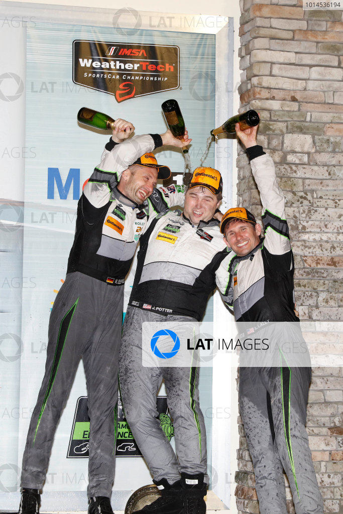 16-19 March, 2016, Sebring, Florida, USA , 44, Audi, R8 LMS GT3, GTD, John Potter, Andy Lally, Marco Seefried, champagne ?2016, Michael L. Levitt LAT Photo USA