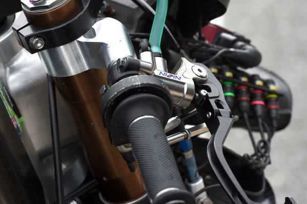 2017 Moto2 Championship - Round 16 Phillip Island, Australia. Thursday 19 October 2017 Xavi Vierge, Tech 3 Racing bike detail World Copyright: Gold and Goose / LAT Images ref: Digital Image 698234
