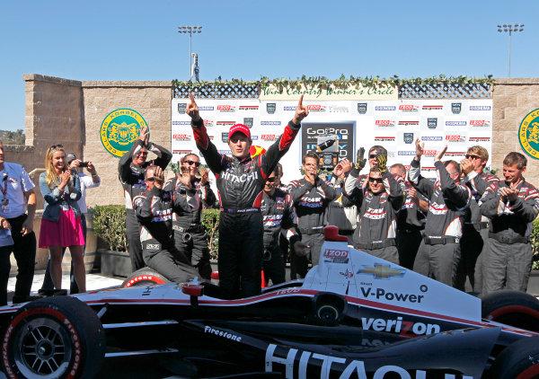 24-26 August, 2012, Sonoma, California, USARyan Briscoe celebrates in victory lane.(c)2012, Phillip AbbottLAT Photo USA