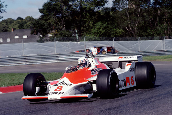 1980 Canadian Grand Prix.Montreal, Quebec, Canada.26-28 September 1980.Alain Prost (McLaren M30 Ford).Ref-80 CAN 33.World Copyright - LAT Photographic