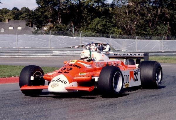 1980 Canadian Grand Prix.Montreal, Quebec, Canada.26-28 September 1980.Andrea de Cesaris (Alfa Romeo 179).Ref-80 CAN 28.World Copyright - LAT Photographic