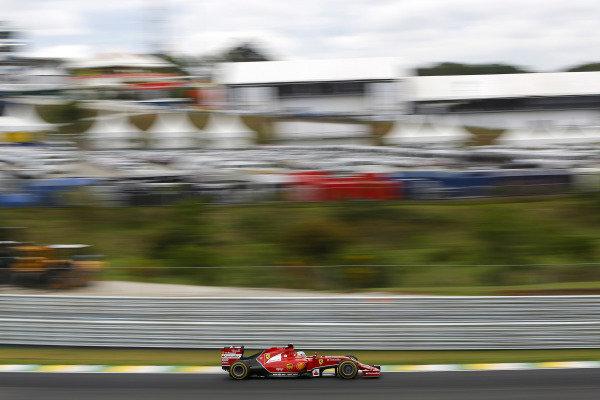 Fernando Alonso (ESP) Ferrari F14 T. Formula One World Championship, Rd18, Brazilian Grand Prix, Qualifying, Sao Paulo, Brazil, Saturday 8 November 2014. BEST IMAGE