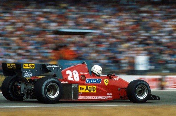 Race winner Rene Arnoux (FRA) Ferrari 126C3.Formula One World Championship, German Grand Prix, Hockenheim, Germany, 7 August 1983.