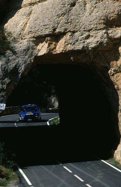 2002 World Rally ChampionshipRally Catalunya, Spain. 21st - 24th March 2002.Subaru Impreza WRC , action.World Copyright: McKlein/LAT Photographic.ref: 35mm Image 02 WRC 13