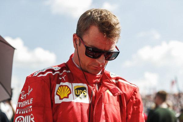 Kimi Raikkonen, Ferrari during the 1 minute silence for Sergio Marchionne.
