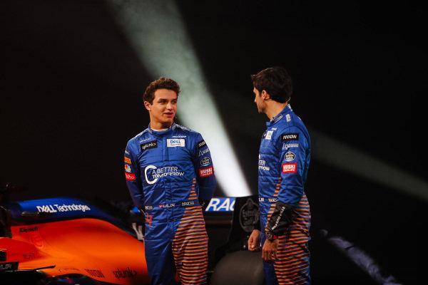 Lando Norris, McLaren, and Carlos Sainz Jr, McLaren