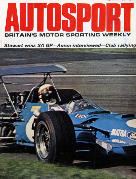 Cover of Autosport magazine, 7th March 1969
