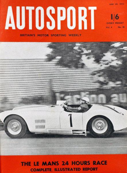 Cover of Autosport magazine, 20th June 1952