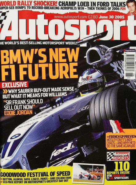 Cover of Autosport magazine, 30th June 2005