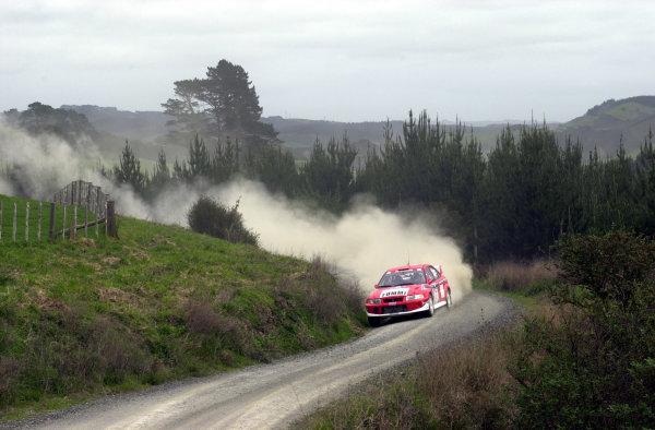 2001 World Rally Championship.Rally of New Zealand. September 20-23, 2001.Auckland, New Zealand.Tommi Makinen during shakedown.Photo: Ralph Hardwick/LAT