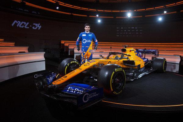 Carlos Sainz Jr, McLaren with the McLaren MCL34