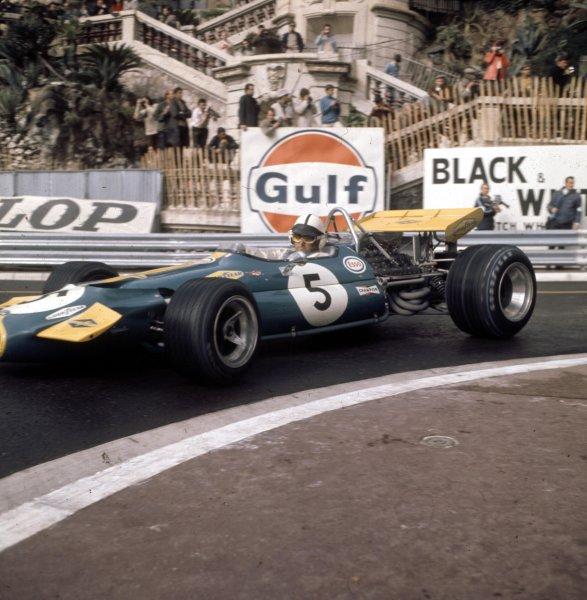 1970 Monaco Grand Prix.Monte Carlo, Monaco.7-10 May 1970.Jack Brabham (Brabham BT33 Ford) 2nd position.Ref-3/4037AH.World Copyright - LAT Photographic