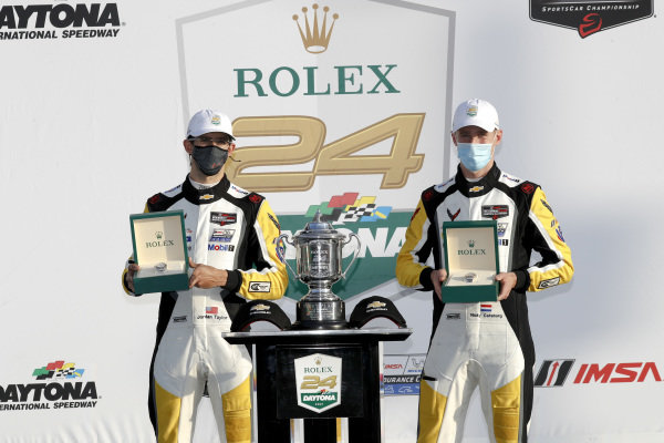 #3 Corvette Racing Corvette C8.R, GTLM: Nicky Catsburg, Jordan Taylor, Antonio Garcia, winner, victory lane