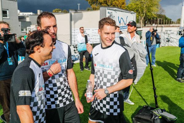 Stoffel Vandoorne (BEL), HWA Racelab, and Felipe Massa (BRA), Venturi Formula E, at the Formula E charity football match