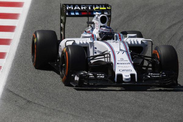 Circuit de Catalunya, Barcelona, Spain. Friday 8 May 2015. Valtteri Bottas, Williams FW37 Mercedes. World Copyright: Steven Tee/LAT Photographic. ref: Digital Image _L4R5460