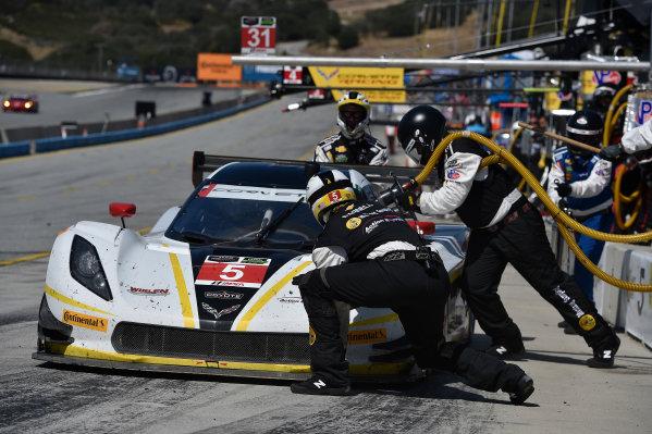 1-3 May, 2015, Monterey, California, USA 5, Chevrolet, Corvette DP, P, Joao Barbosa, Christian Fittipaldi pit stop ?2015 Scott R LePage  LAT Photo USA