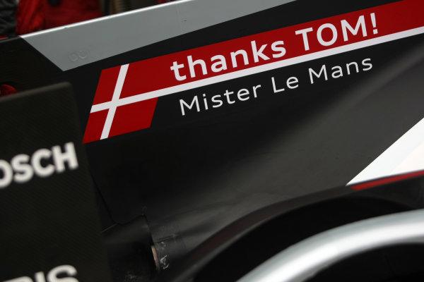 2014 World Endurance Championship, Interlagos, Brazil. 28th - 30th November 2014.  Tom Kristensen Audi Sport Team Joest Audi R18 e-tron, World Copyright: Ebrey / LAT Photographic.