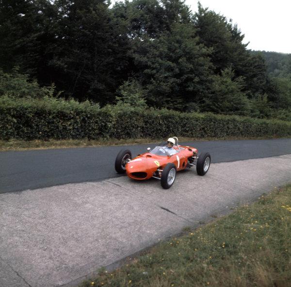 Phil Hill, Ferrari Dino 1962 German Grand Prix World © LAT Photographic Tel: +44 (0) 181 251 3000 Fax: +44 (0) 181 251 3001 Somerset House, Somerset Road, Teddington, TW11 8RU