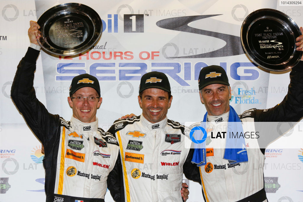 19-21 March, 2015, Sebring, Florida, USA Overall winners  5, Chevrolet, Corvette DP, P, Joao Barbosa, Christian Fittipaldi, Sebastien Bourdais, ©2015, Michael L. Levitt LAT Photo USA